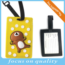 micro injection recessed design 3d customized bear animal shape travel soft pvc luggage tag