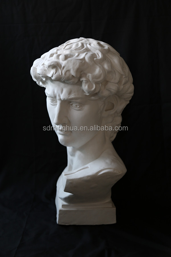 high quality gypsum head statue of David for art drawing