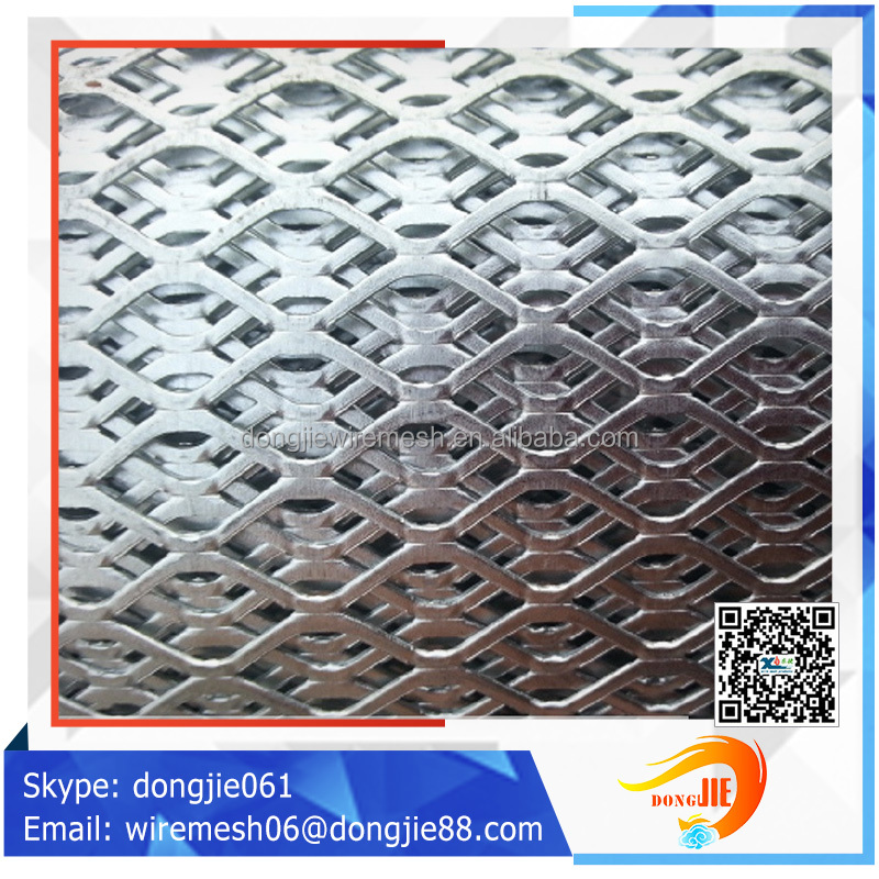 Best price Galvanized niagara patterns expanded metal mesh/Diamond hole stretched metal fence (factory sales)