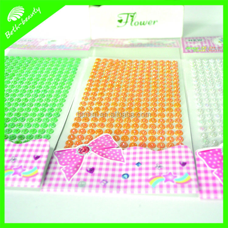 DIY rhinestone sticker custom 3d crystal sticker