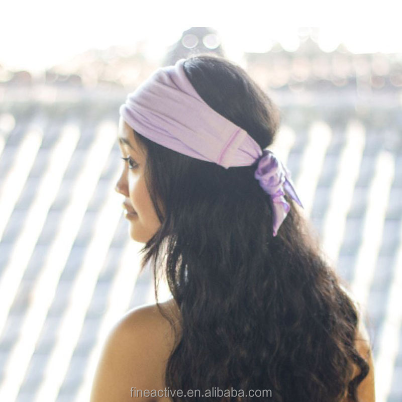 OEM Women custom dry fit custom yoga sport headband wholesale