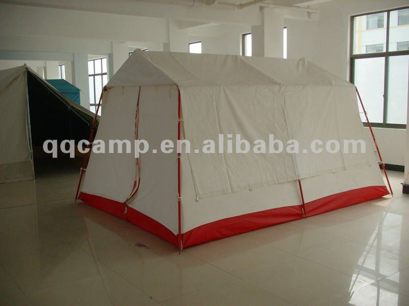 White large Refugee tent with waterproof