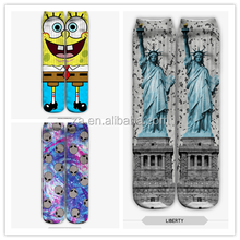 New Fashionable all over print basketball custom sublimation man sport sock wholesale athletic sock man sock