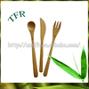 100% biodegradable bulk bamboo flatware set with stand