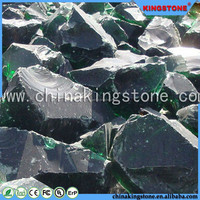 Transparent Green Glass Boulders Cheap Colored