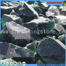 Transparent green glass boulders cheap colored landscaping stone