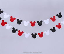Cute Mouse Handmade Paper Garlands for Party Decoration