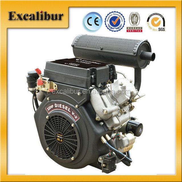 4-stroke 20hp v-twin small diesel engine for sale