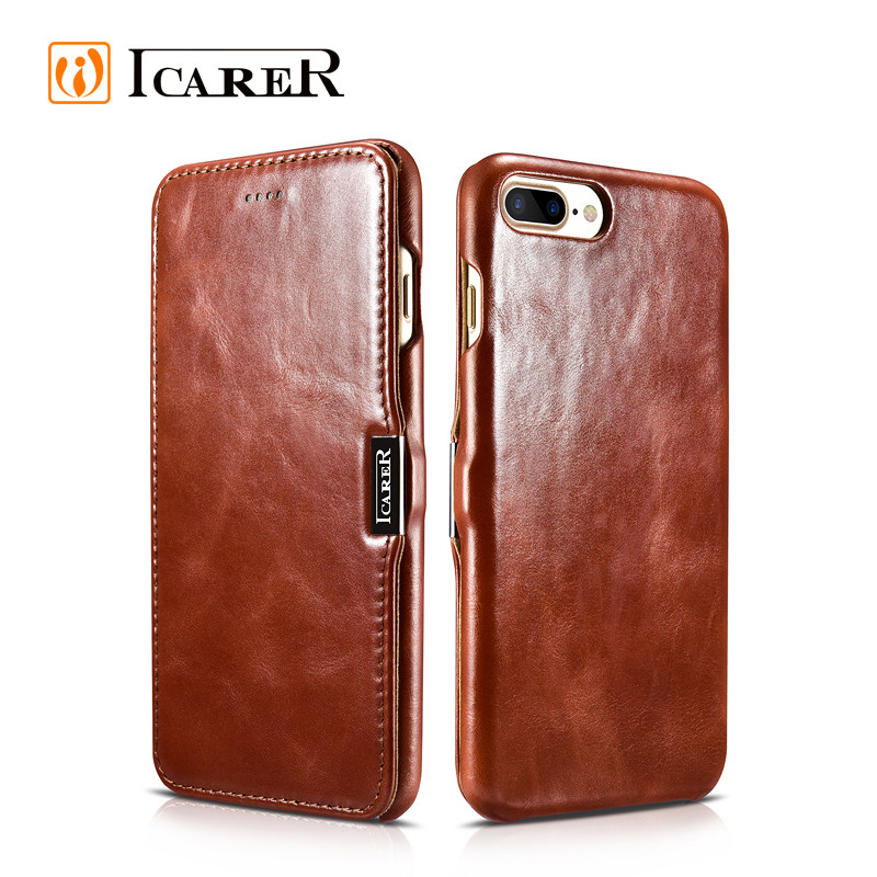 2016 Custom Luxury Real Genuine Leather Phone Case for Apple iPhone 7 case