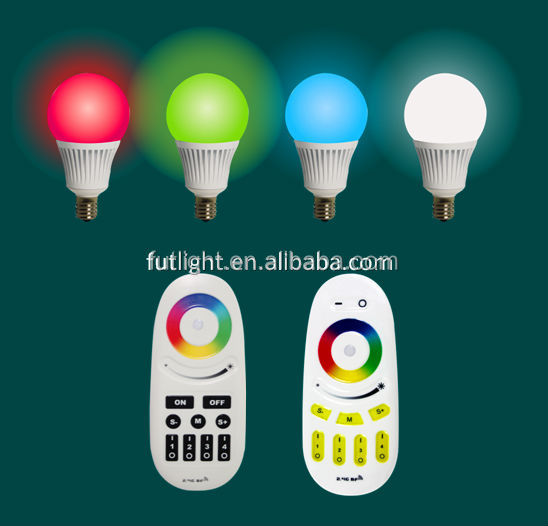 Milight New design high power RGB+warm white(cool white) CE ROHS Approved new E14 socket wifi bulb light