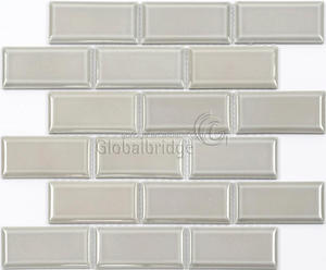 Grey glazed strip subway tile ceramic wall and kitchen porcelain tiles backsplash tile