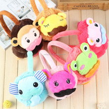 Free sample plush baby animal earmuff warm earmuff