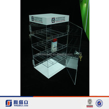 Best selling acrylic ejuice display shelf with lock acrylic ejuice display