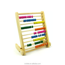 vertiacal ten grade of computation wooden frame kids educational wooden abacus toy
