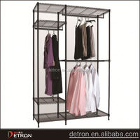Metal wire clothes rack closet organizers