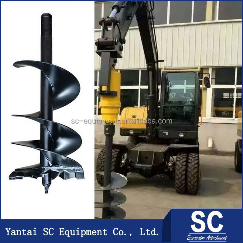 Ground Auger Drilling /Earth Auger For Backhoe Loader SUMITOMO S160 For Hole Digging