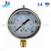 "2.5""(63mm) stainless steel housing high pressure gauge 350bar 1/4NPT thread"