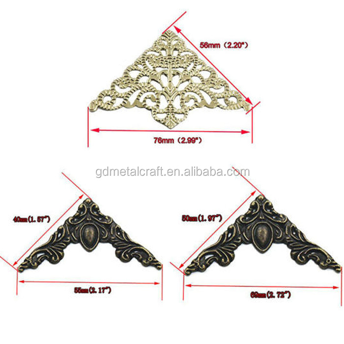 Decorative Triangle Corner Protector For Wood Jewellery Box