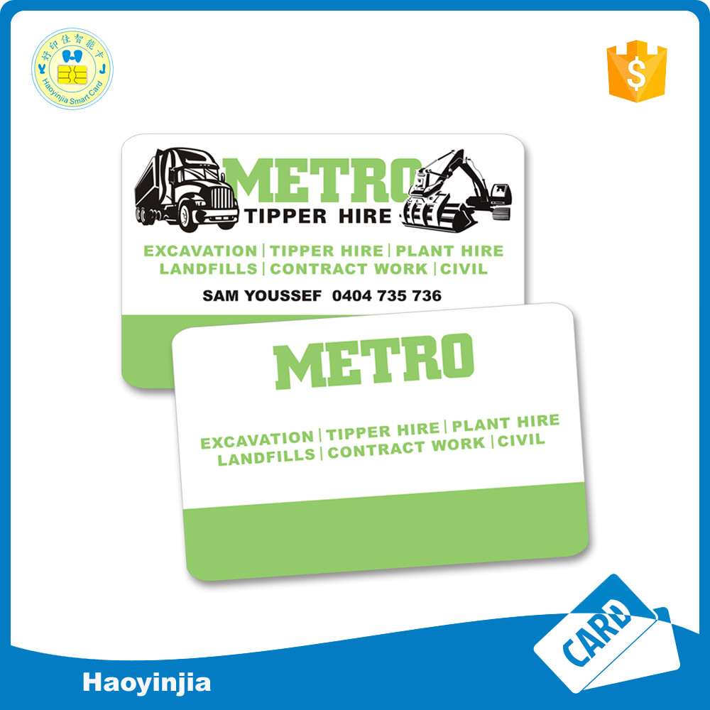 Hot Stamping Cheap Plastic PVC Business Card with Logo Printed