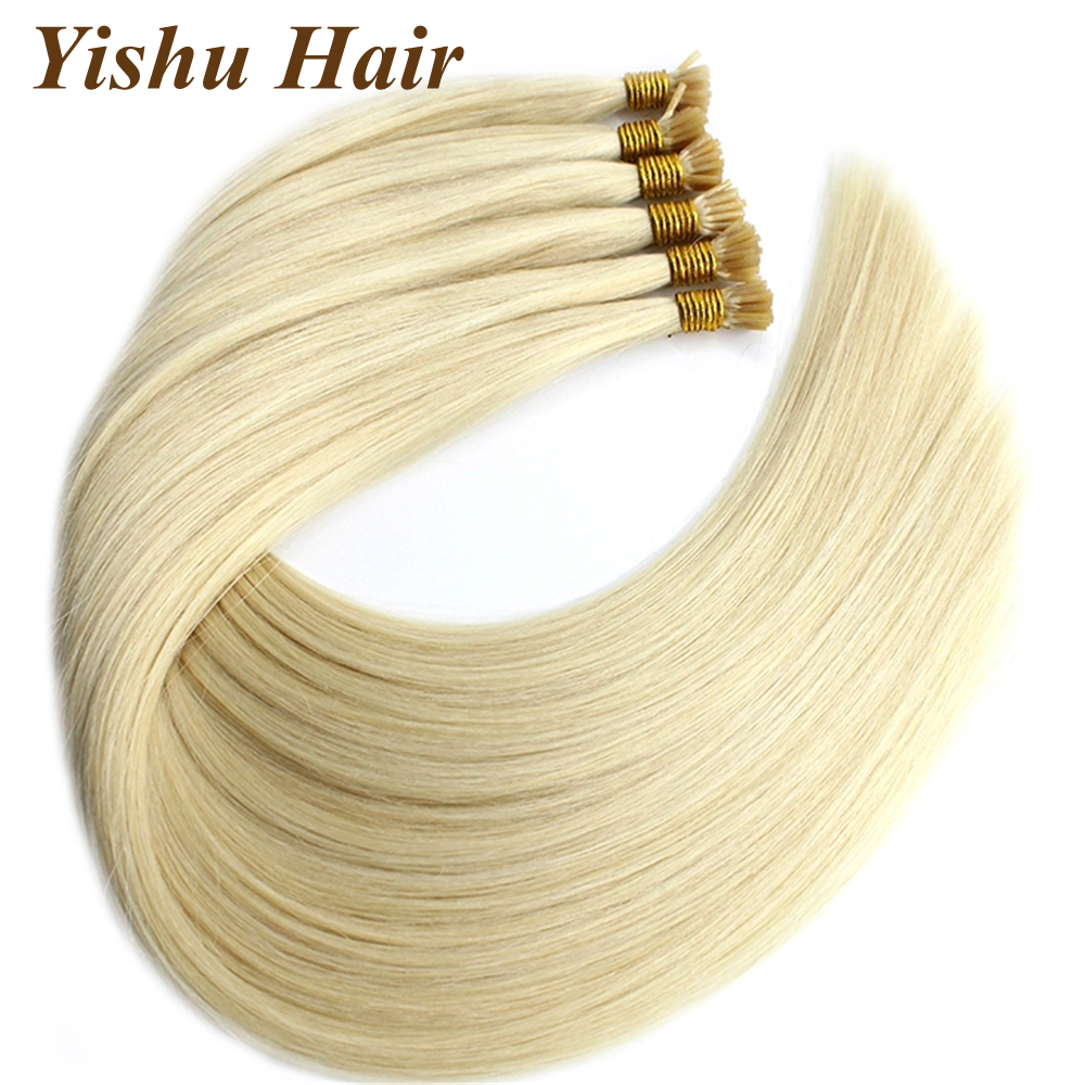 YISHU <strong>Hair</strong> Double drawn 100 Remy russian keratin 0.6g0.8g1g i tip pre bonded <strong>hair</strong> extension human <strong>hair</strong>