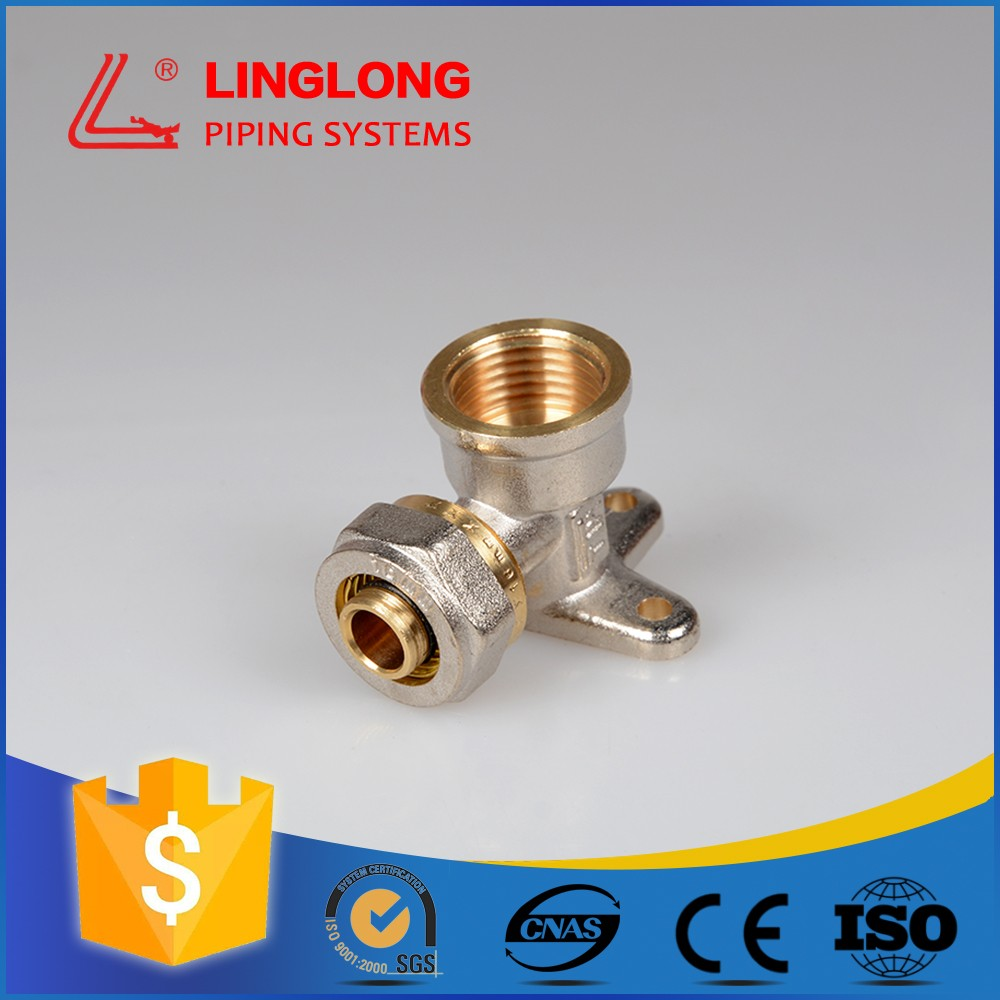 compression fittings brass seated female elbow
