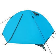 high quality outdoor camping double layer 2 person water proof 4 seasons hiking tent