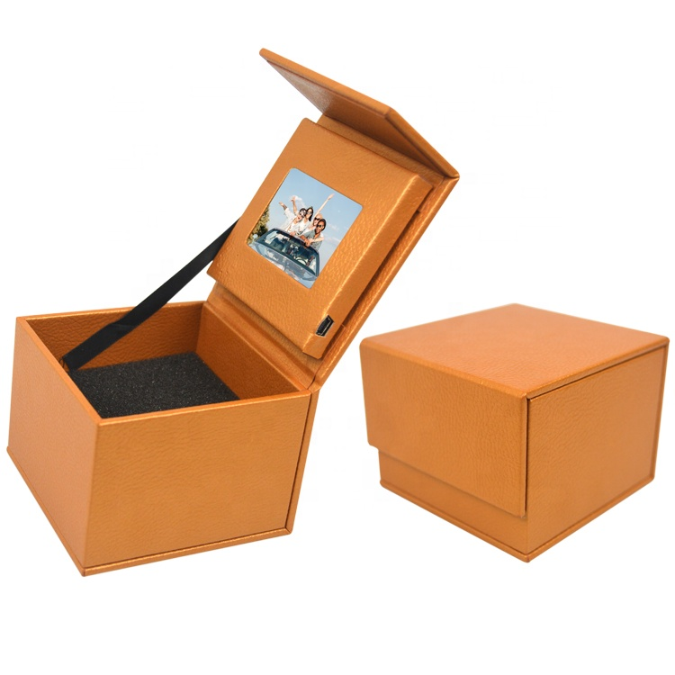Most Popular Hardcover 2.4 inch Video Presentation Gift Box LCD jewelry video box