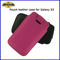 Pull Tab Leather Pouch Case for Samsung Galaxy S3 i9300,Pouch case cover,high quality,Fast delivery----Laudtec