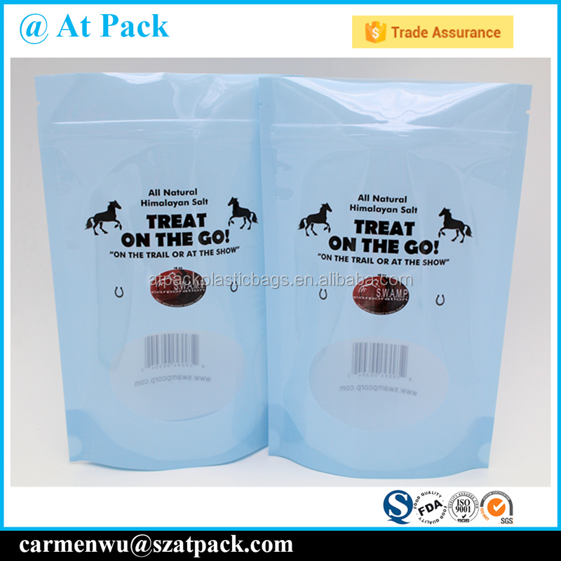 Custom printed stand up bath salt packaging with zipper