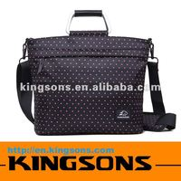 Kingsons Brand 14.1 inch Nylon Fashion notebook bag for lady
