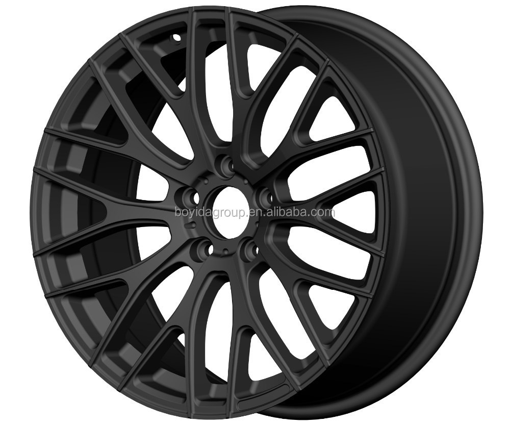 19x8.5, 5x114.3 alloy wheel, matt black wheel rims , alloy wheels for cars china wholesale