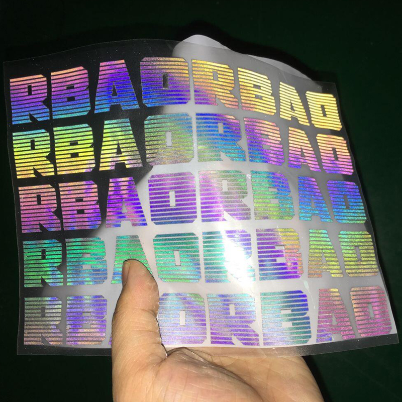 pet rainbow reflective heat transfer vinyl iridescent film