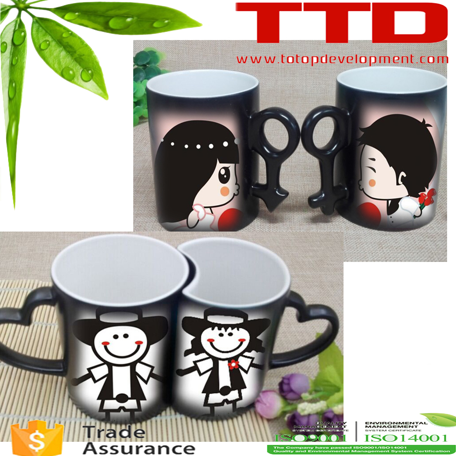 Sweethearts couples Color Changing Magic Sublimation Mug/Cup Temperature Heat Sensitive Color Changing