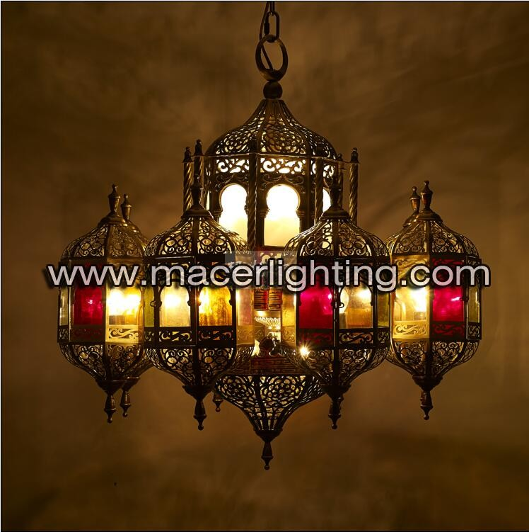 Colorful moroccan handmade barss lamp