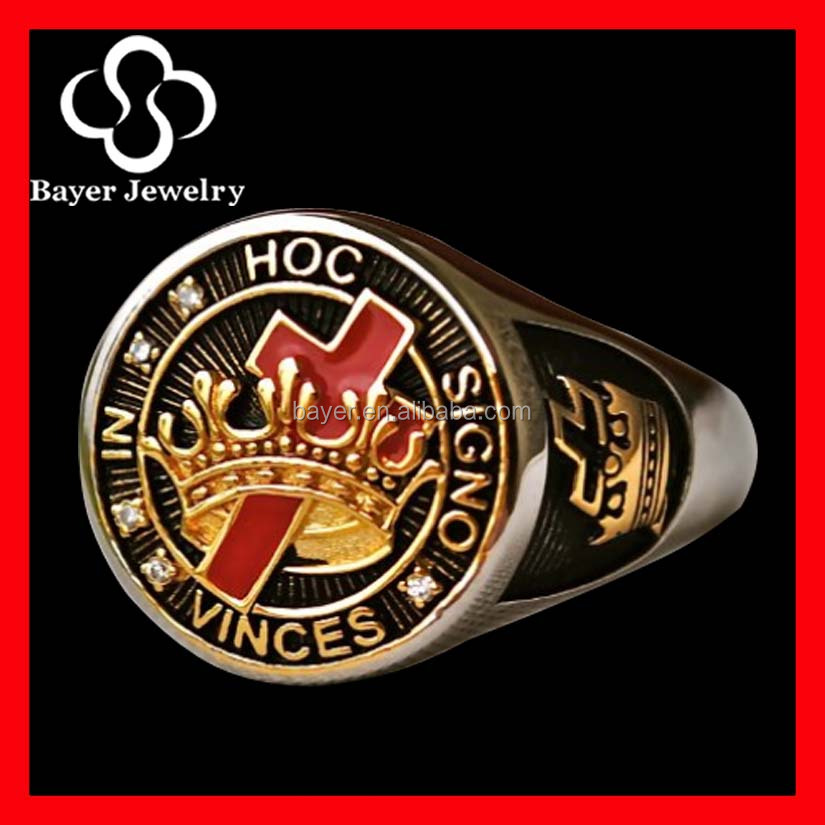 cheap wholesale stainless steel masonic ring jewelry