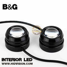 LED Fog Light Projector White COB Angel Eyes Halo Ring DRL Driving Bulbs