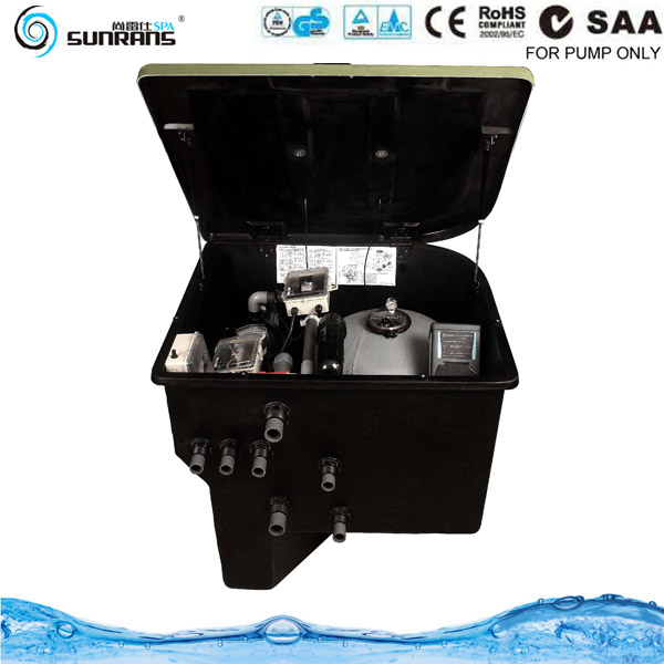 Easy set up swim pool filtration in-ground pool filter machine