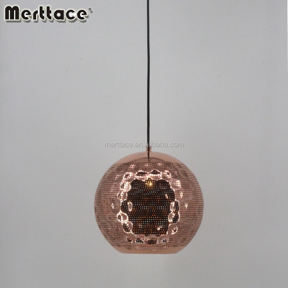 Copper Orb Hanging Lighting Modern Exotic Chandelier