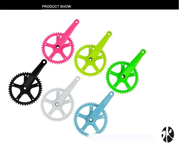 Customized Hot Selling Bicycle Accessoories Carbon/Aluminum Alloy Road Bike Fixed Gear Bicycle Crank Bmx Crankset