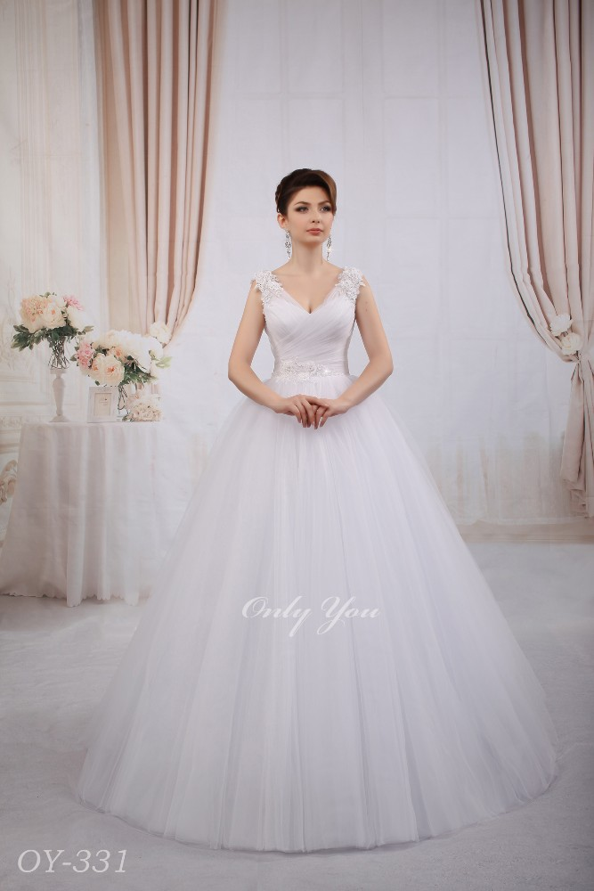 Gorgeous wedding dress with straps Lux Tulle Beaded lace with lace flowers Ball gown Plus Size