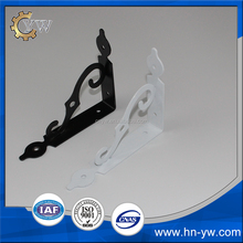 145*110*25 black painting Fancy metal connecting brackets for wood