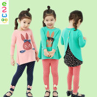 Little Rabbit Polka Dot Clothing Sets From Factory Girls Gym Formal Suit