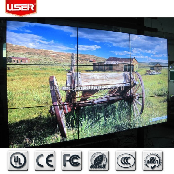 lcd advertising screen,lcd splicing wall,3x3 lcd video wall