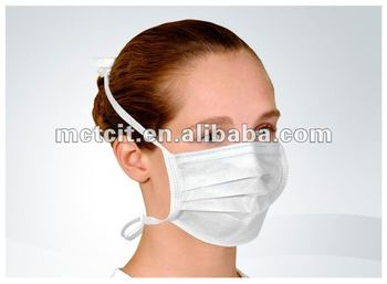 Disposable ISO/CE nonwoven surgical 2 ply blue face mask