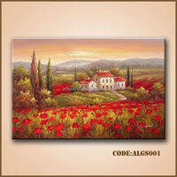 High quality Italy tuscany landscape oil painting