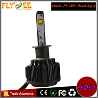 v16 40w 4800lm h4 h7 9004 9007 car led headlight falshing light bulbs with high-speed turbo fan cooling systerm