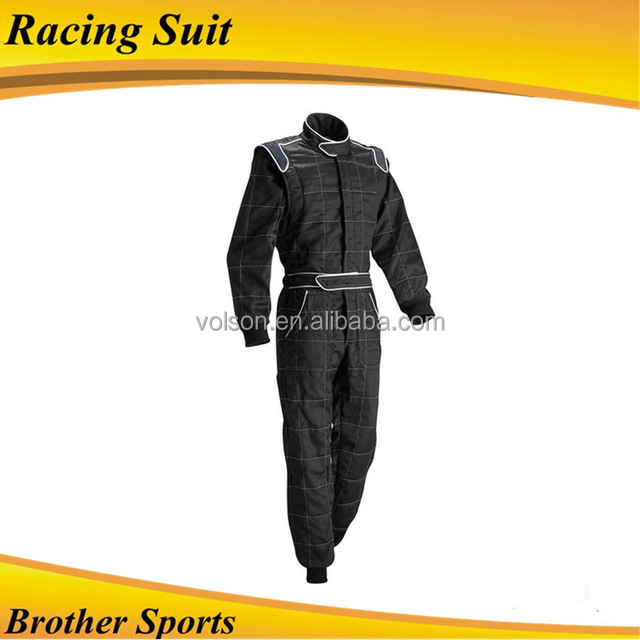 2017 Black Professional Overall Racing Suits FIREPROOF FIA approved