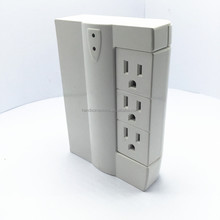 6 outlet Wall Tap Surge Protector with Swivel Outlets Side Socket Swivel Current tap