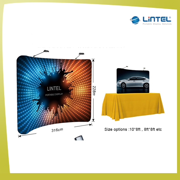 stretch fabric pop up banner display