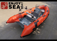 15.4ft/4.7m sport rib motor inflatable hypalon or PVC boat for sale!